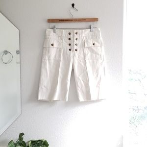 Chloe cream double buttoned shorts